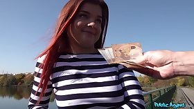 Cute European teen likes the idea of making out for money