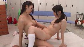 Reiko Kobayakawa & Ichika Ayamori TMHK-042 - lesbian strapon japan jav censored schoolgirl toys teacher heels knee socks