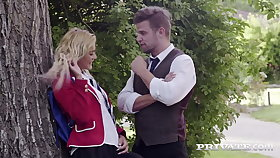 Private.com - Young School Girl Cherry Hug DPd By Teachers!